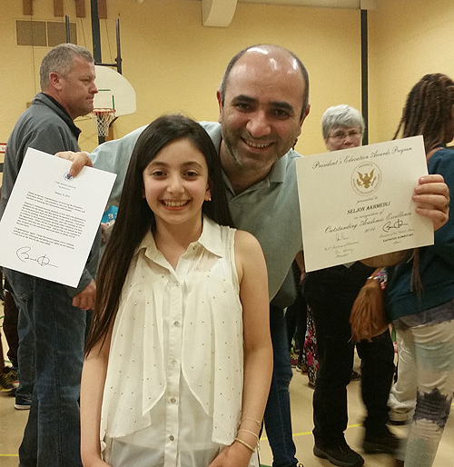 Young Azarbaijani girl is receiving a university education in the USA