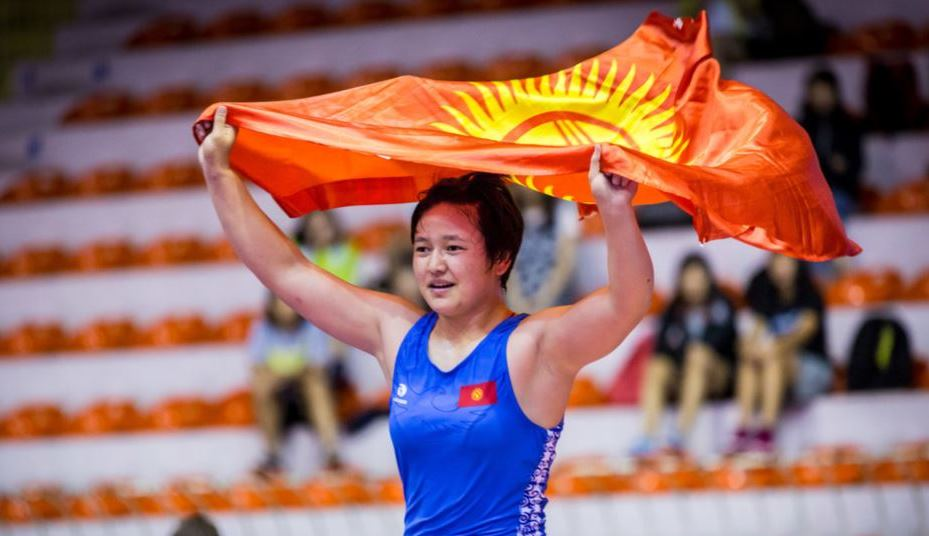 Kyrgyztan Women's Wrestling National Team Took Third place in the Asian Junior Championship