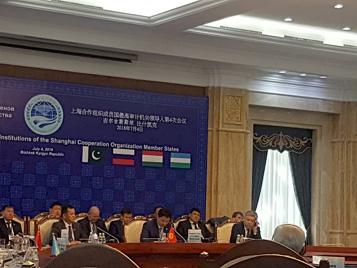 SCO Supreme Audit Institutions in Bishkek IV. Meeting is taking place