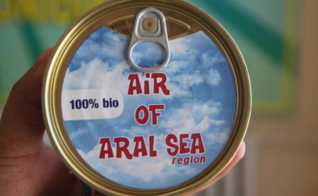 Canned cans with air started selling in the Aral Sea region